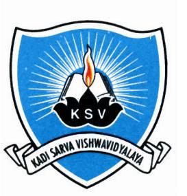 Kadi Sarva Vishwavidyalaya (KSV) B.Ed Admission 2020-21
