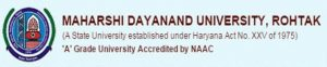 Maharshi Dayanand University Rohtak Recruitment 2019