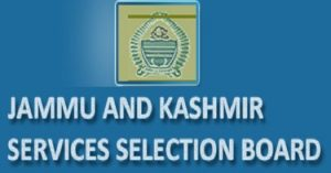 Jammu & Kashmir Service Selection Board Recruitment 2019